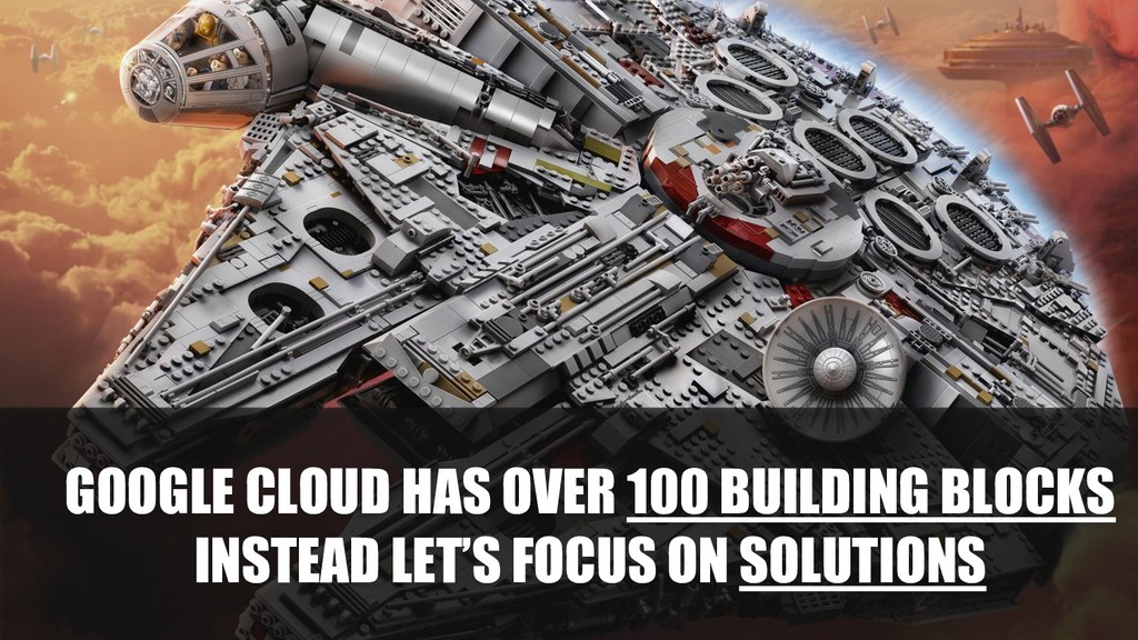 GOOGLE CLOUD HAS OVER 100 BUILDING BLOCKS INSTE...