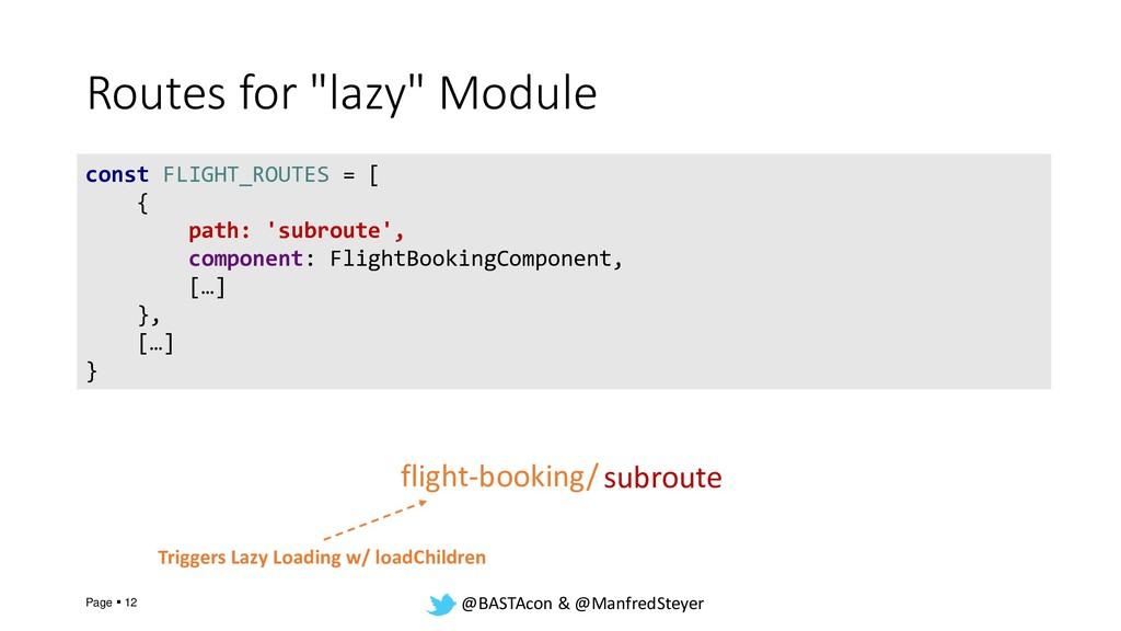 "@BASTAcon & @ManfredSteyer Routes for ""lazy"" Mo..."