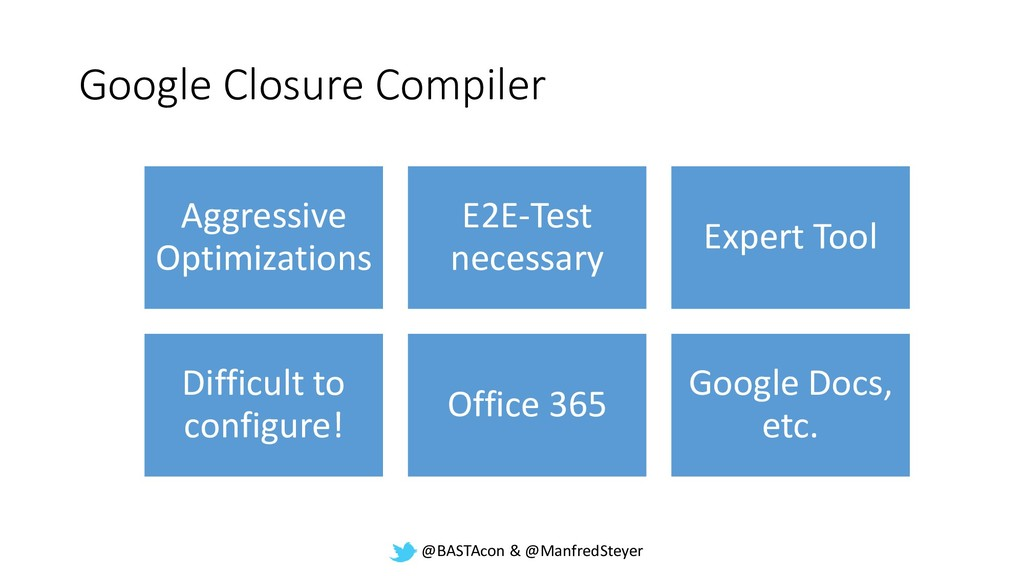 @BASTAcon & @ManfredSteyer Google Closure Compi...