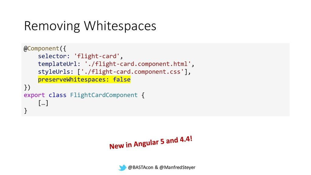 @BASTAcon & @ManfredSteyer Removing Whitespaces...