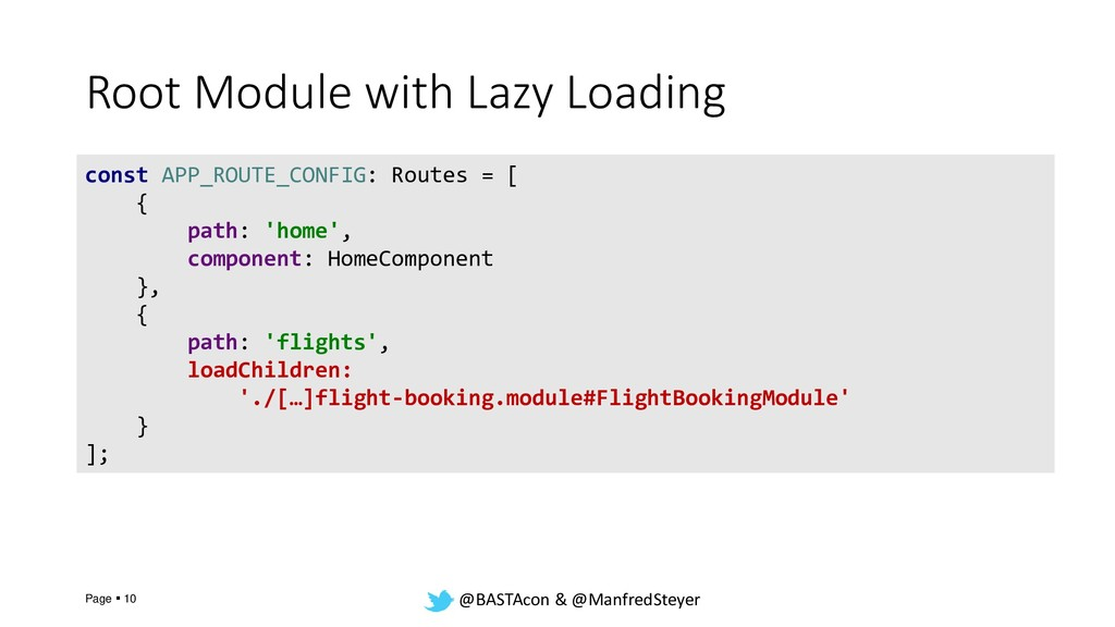 @BASTAcon & @ManfredSteyer Root Module with Laz...
