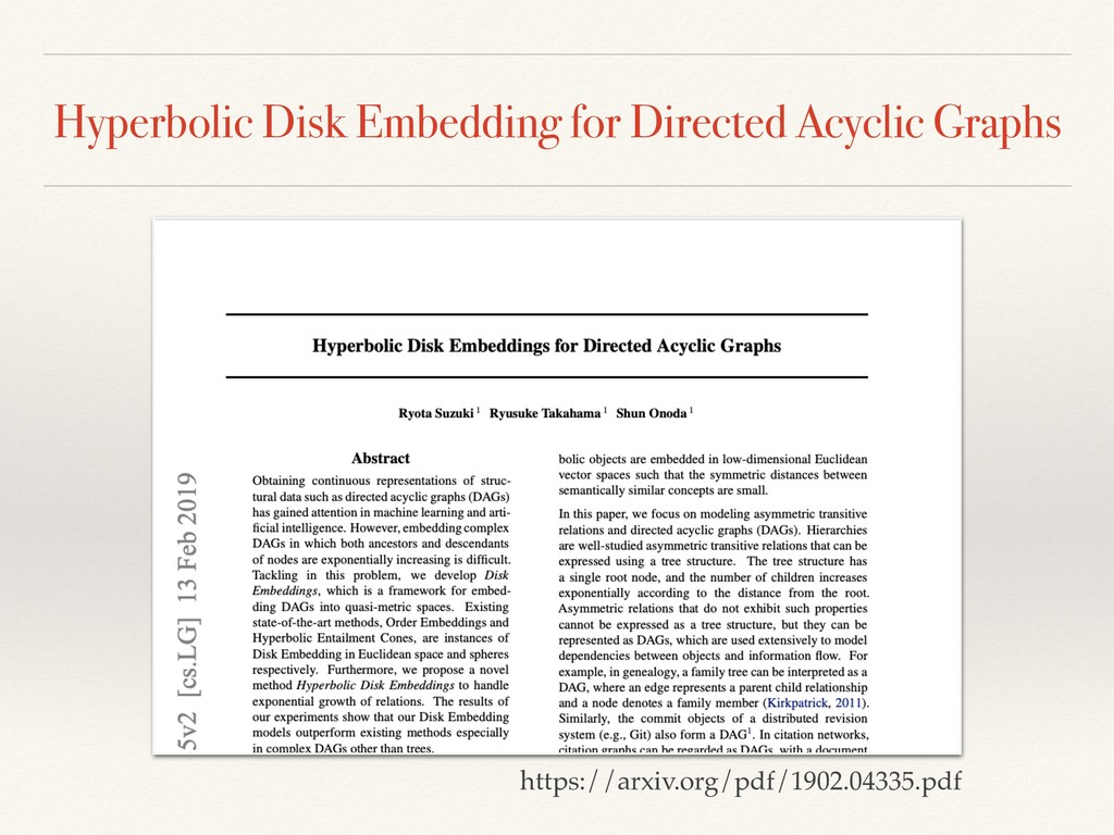 Hyperbolic Disk Embedding for Directed Acyclic ...
