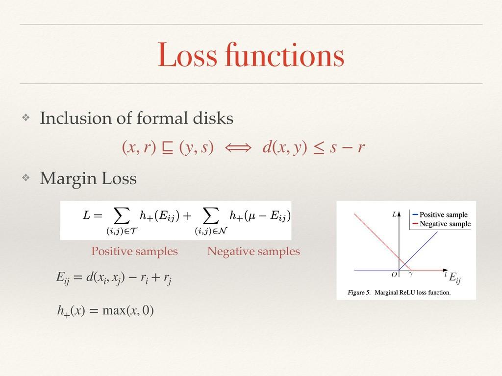 Loss functions ❖ Margin Loss Eij = d(xi , xj ) ...