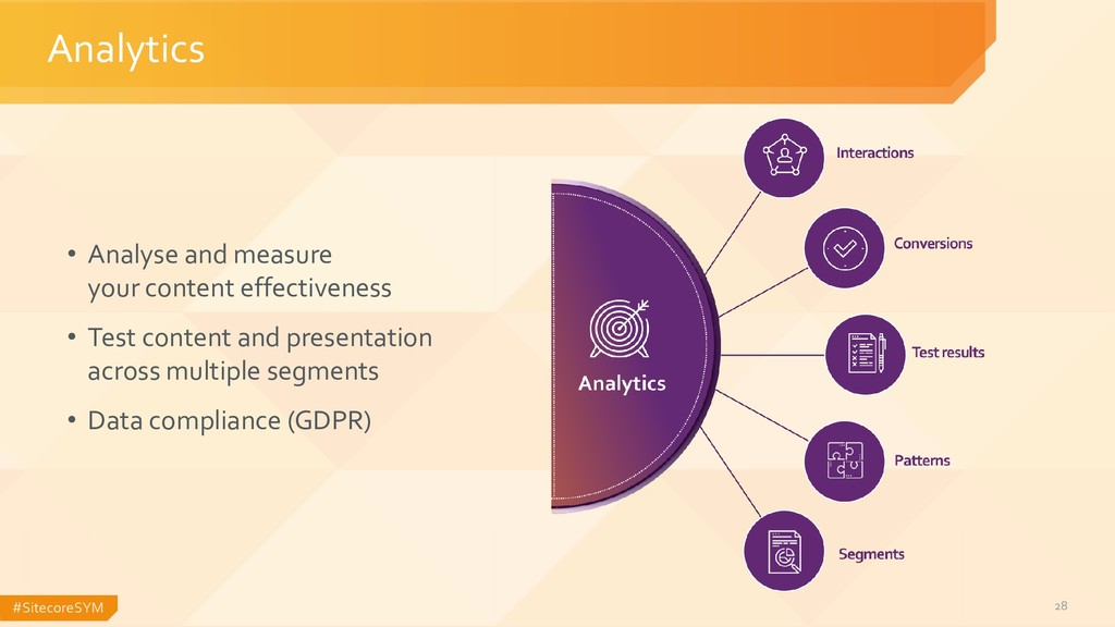 #SitecoreSYM 28 Analytics • Analyse and measure...
