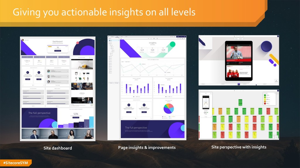 #SitecoreSYM Giving you actionable insights on ...