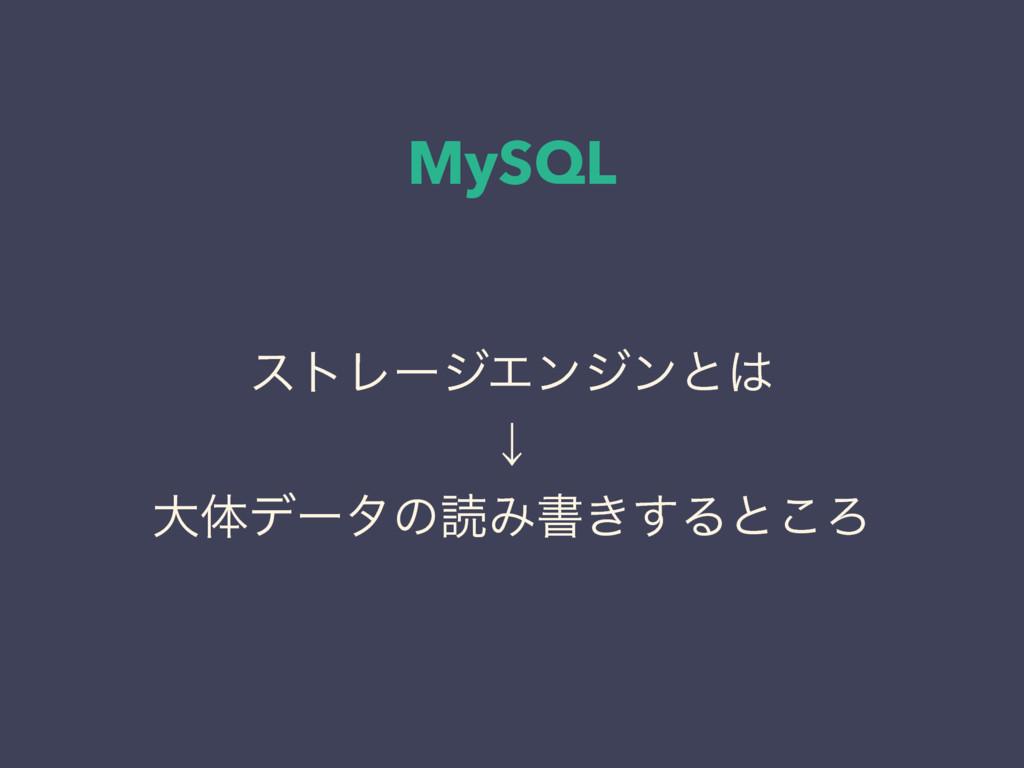 MySQL ετϨʔδΤϯδϯͱ ˣ େମσʔλͷಡΈॻ͖͢Δͱ͜Ζ