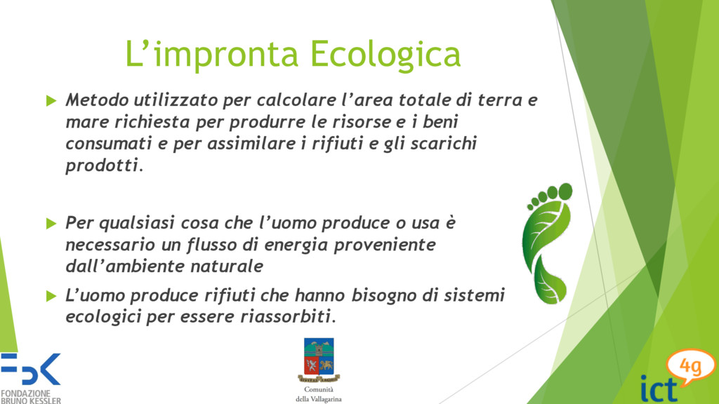 L'impronta Ecologica u Metodo utilizzato per ca...