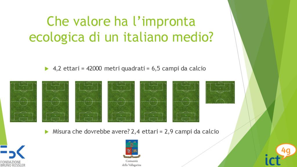 Che valore ha l'impronta ecologica di un italia...