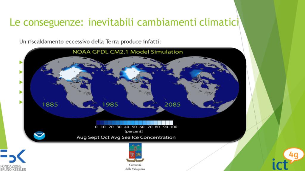 Le conseguenze: inevitabili cambiamenti climati...