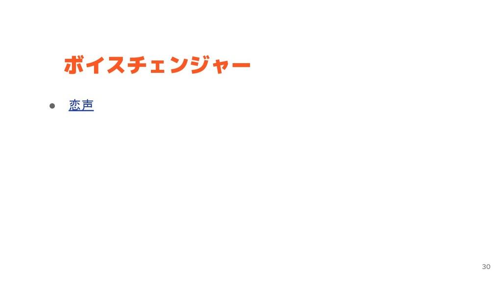 ボイスチェンジャー 30 ● 恋声