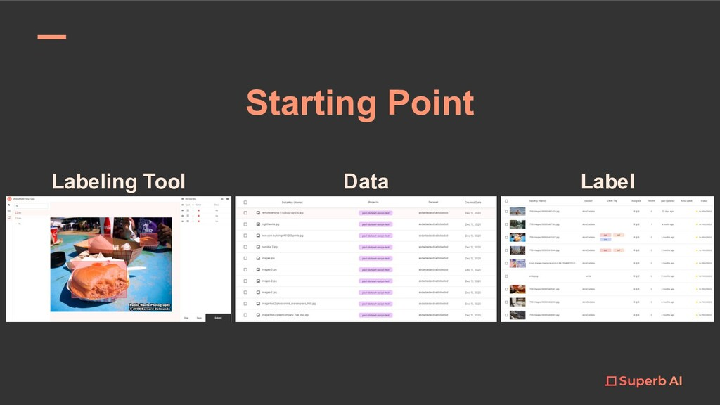 Starting Point Labeling Tool Data Label