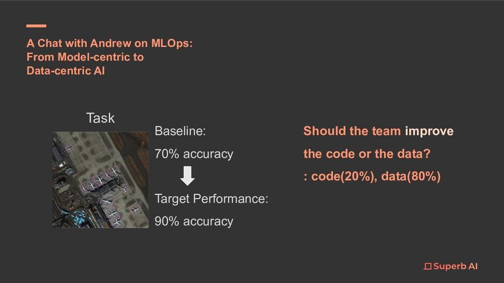 Task Baseline: 70% accuracy Target Performance:...