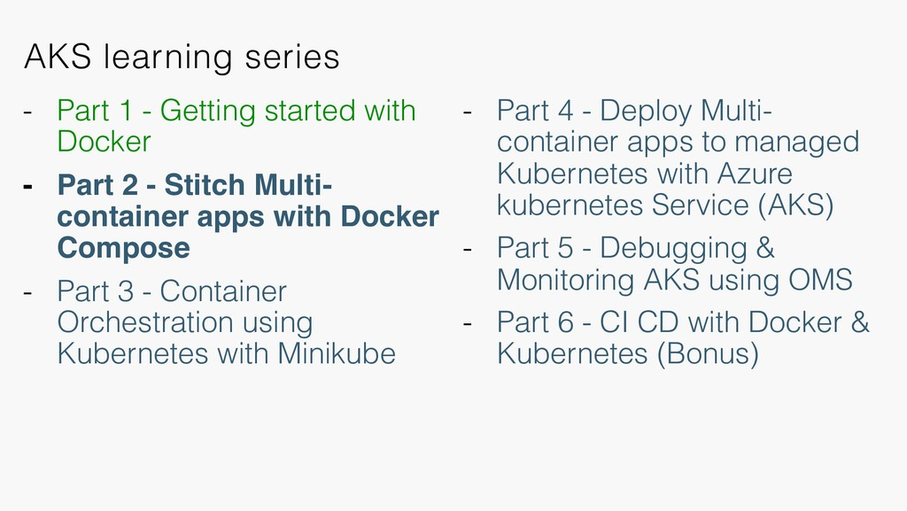 AKS learning series - Part 4 - Deploy Multi- co...