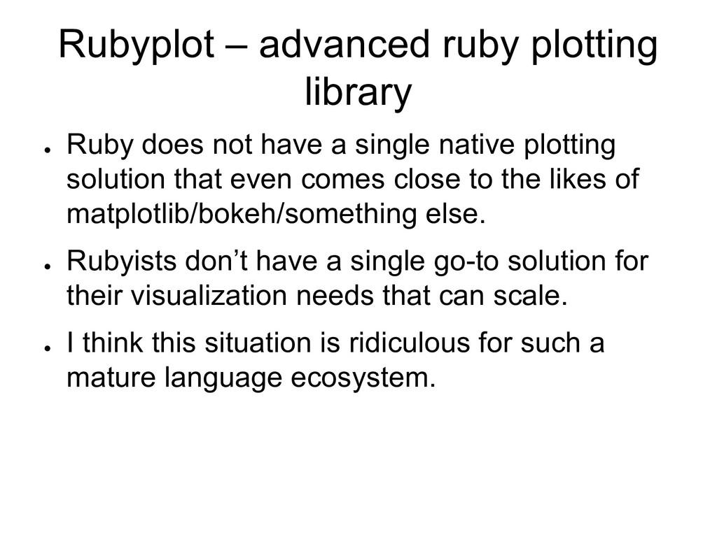 Rubyplot – advanced ruby plotting library ● Rub...