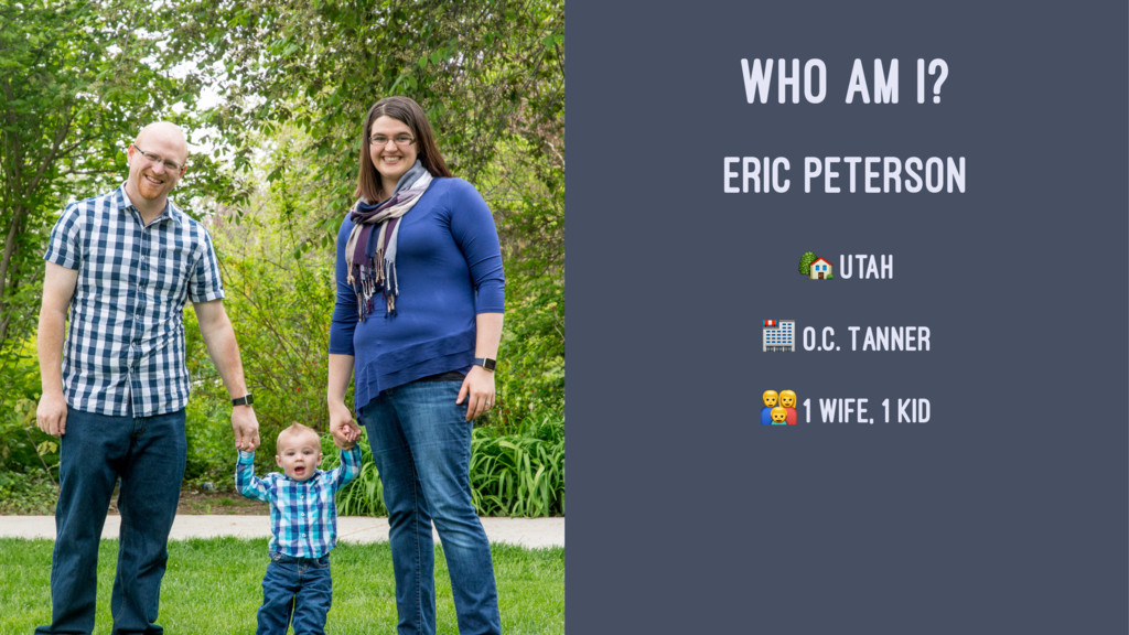 """WHO AM I? ERIC PETERSON ! Utah """" O.C. Tanner # ..."""