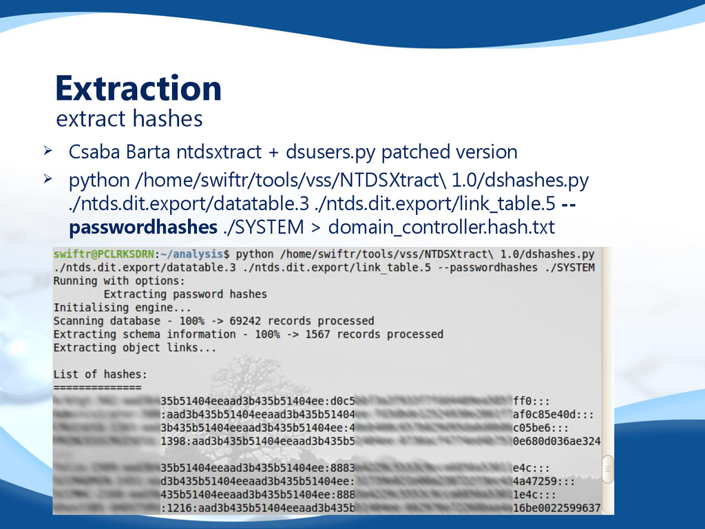  Csaba Barta ntdsxtract + dsusers.py patched v...
