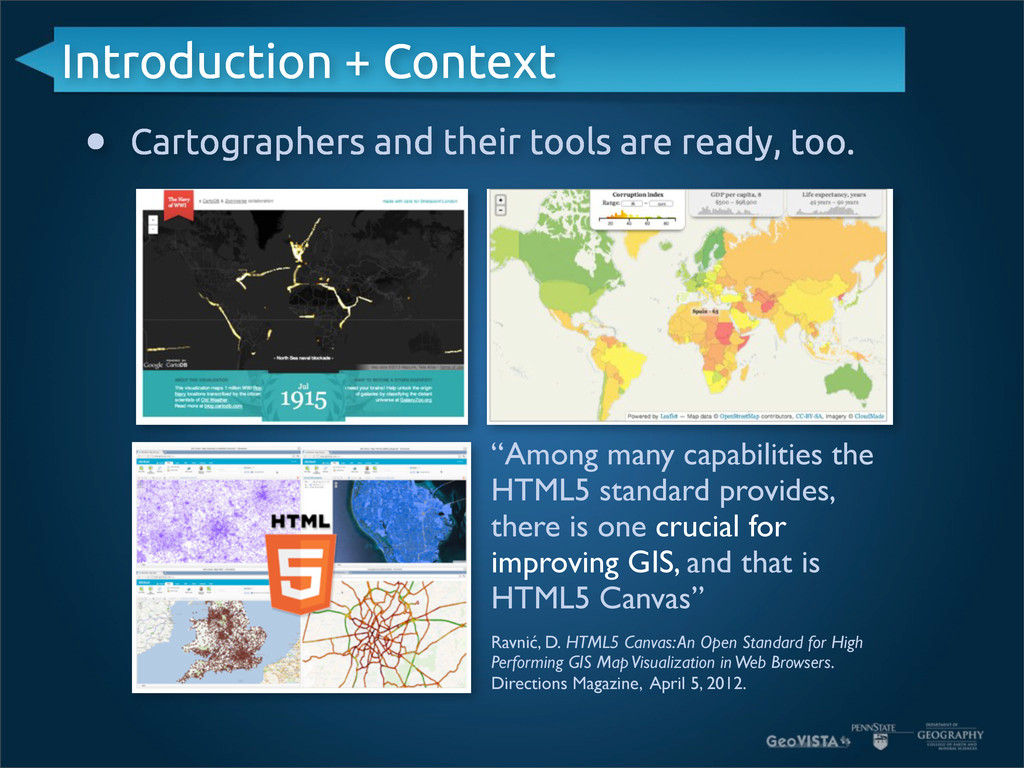 Introduction + Context • Cartographers and thei...