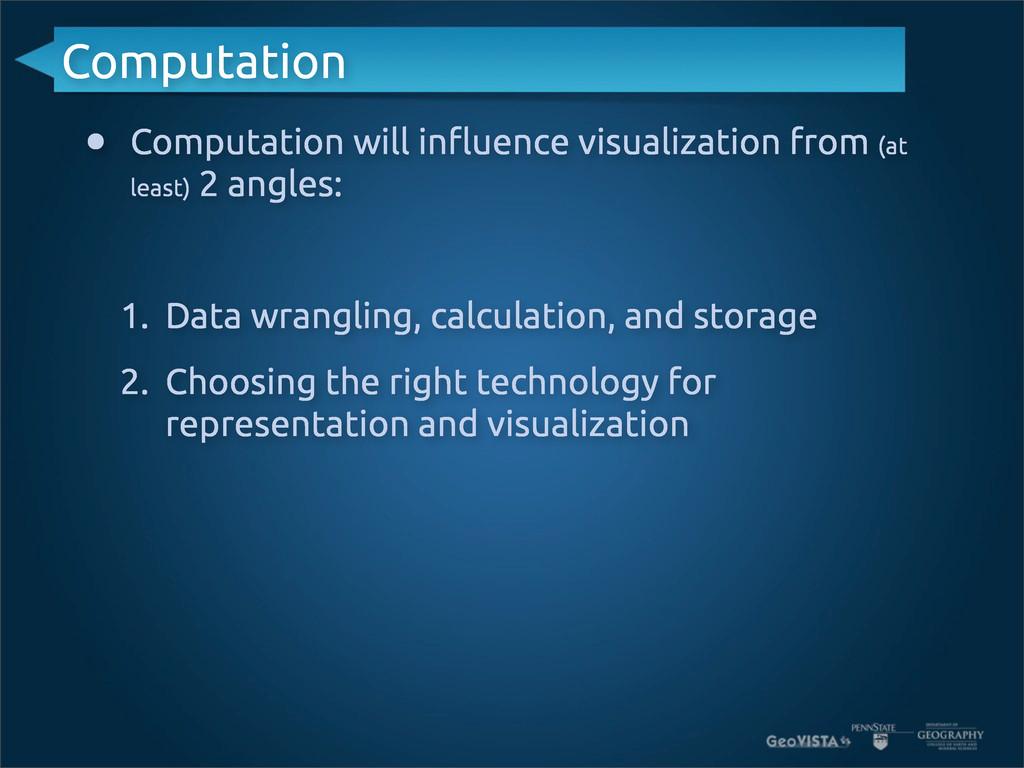 Computation • Computation will in!uence visuali...
