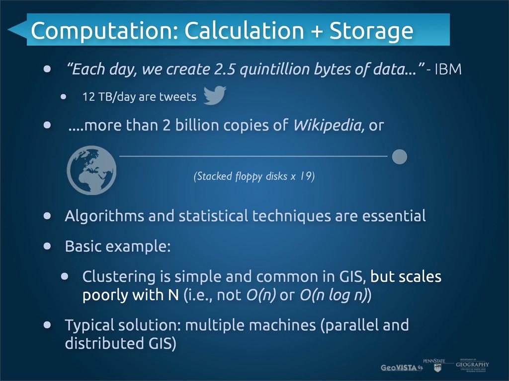 "Computation: Calculation + Storage • ""Each day,..."