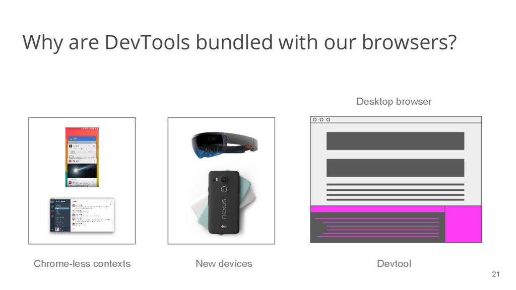 21 Why are DevTools bundled with our browsers? ...