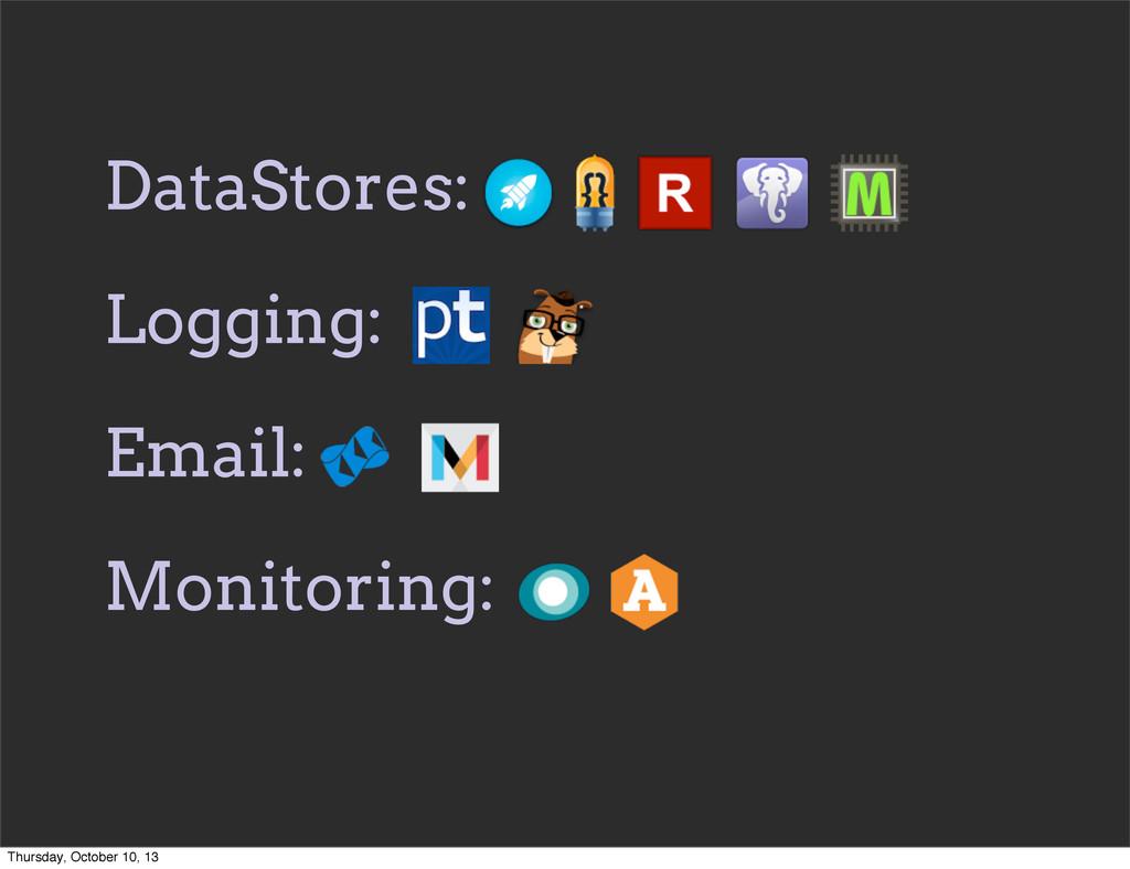 DataStores: Logging: Email: Monitoring: Thursda...