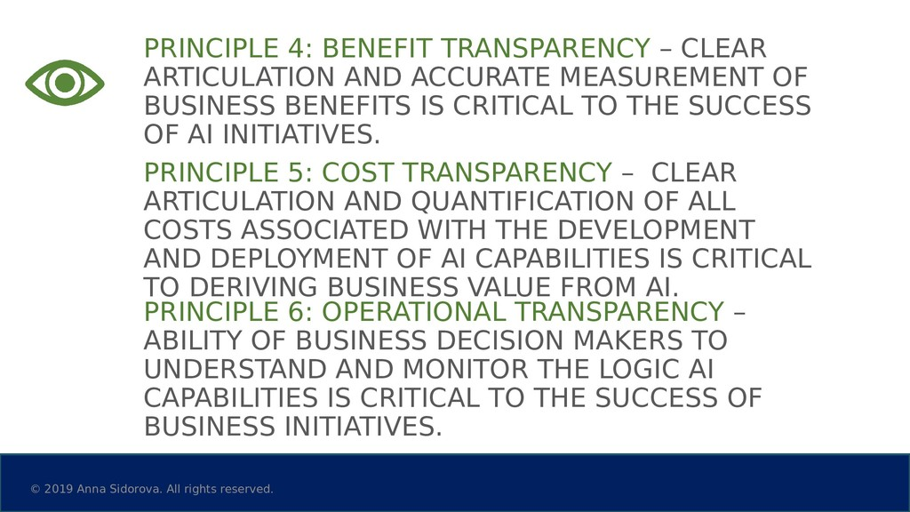PRINCIPLE 4: BENEFIT TRANSPARENCY – CLEAR ARTIC...