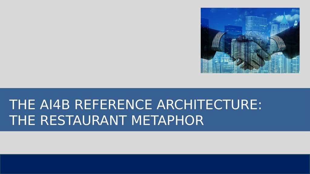 THE AI4B REFERENCE ARCHITECTURE: THE RESTAURANT...