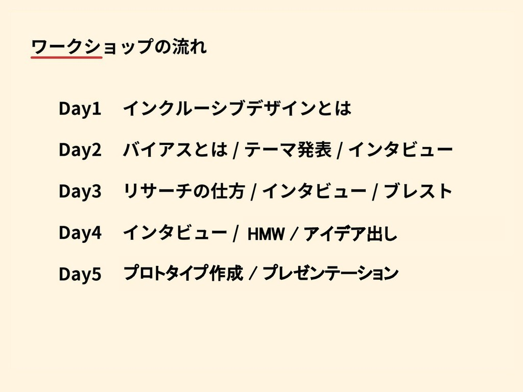HMW / アイデア出し プロトタイプ作成 / プレゼンテーション