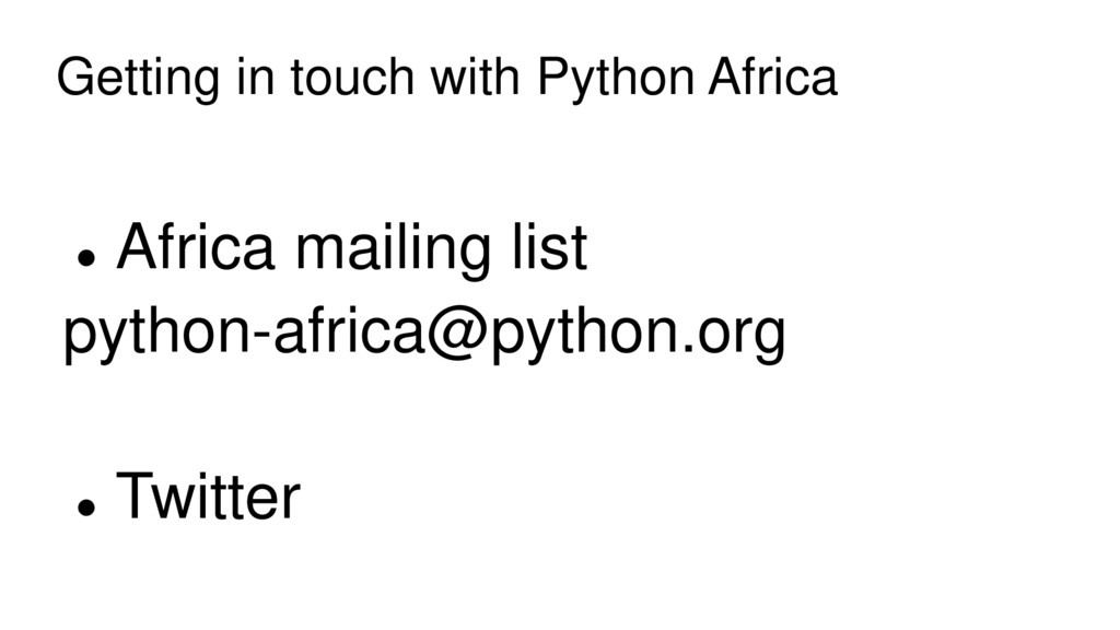 Getting in touch with Python Africa  Africa ma...