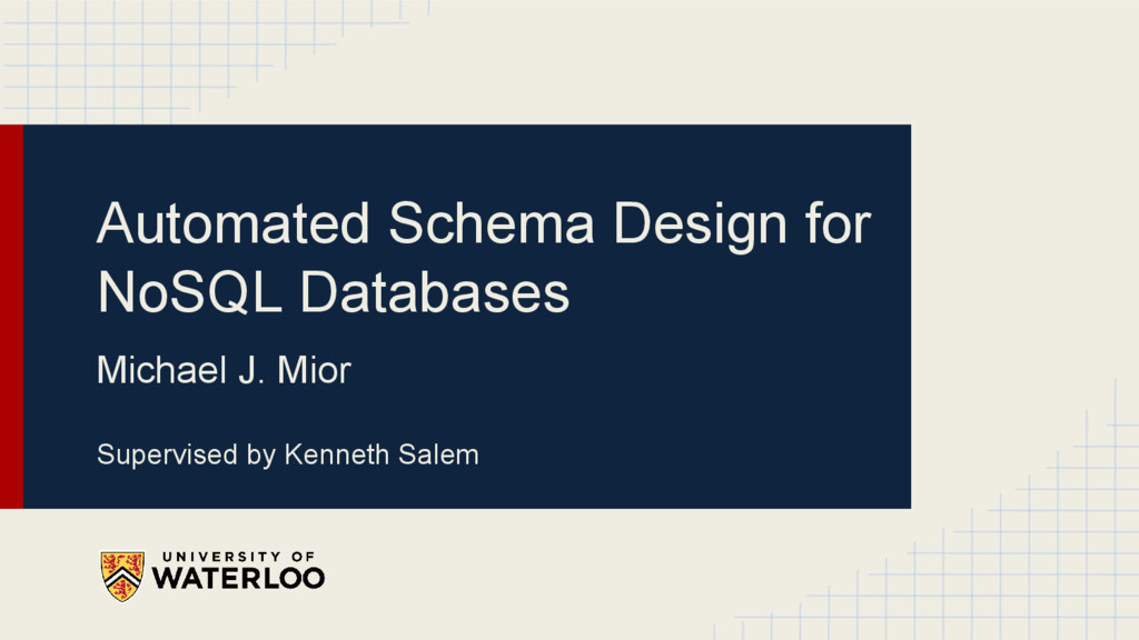 Automated Schema Design for NoSQL Databases Mic...