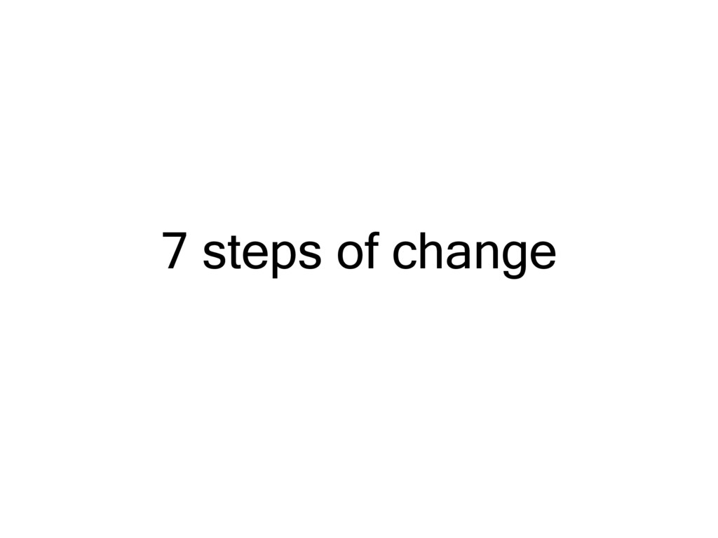 7 steps of change