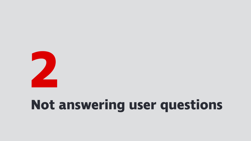 Not answering user questions 2