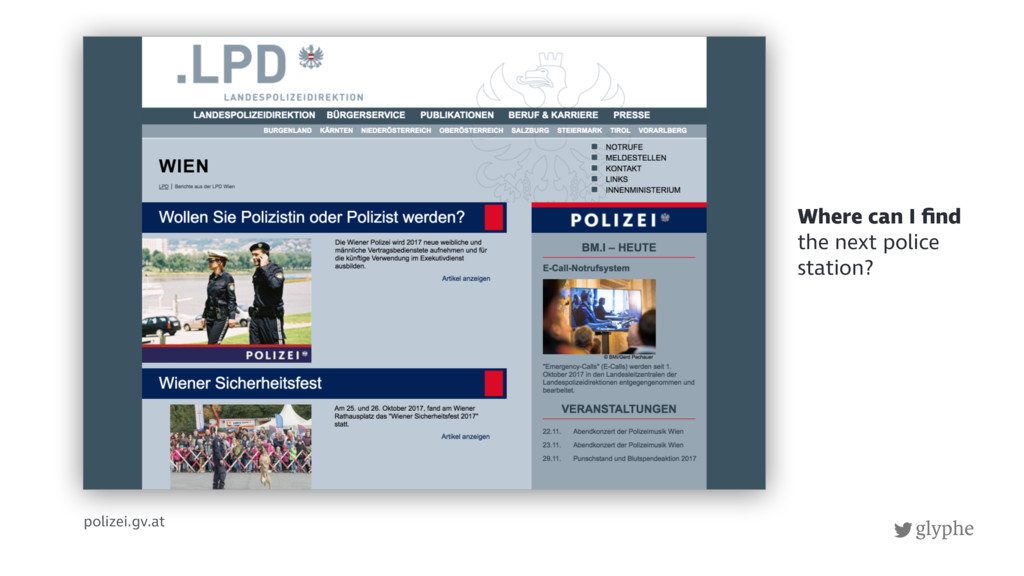 glyphe polizei.gv.at Where can I find the next p...