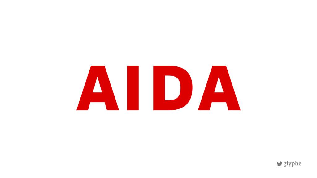 glyphe AIDA