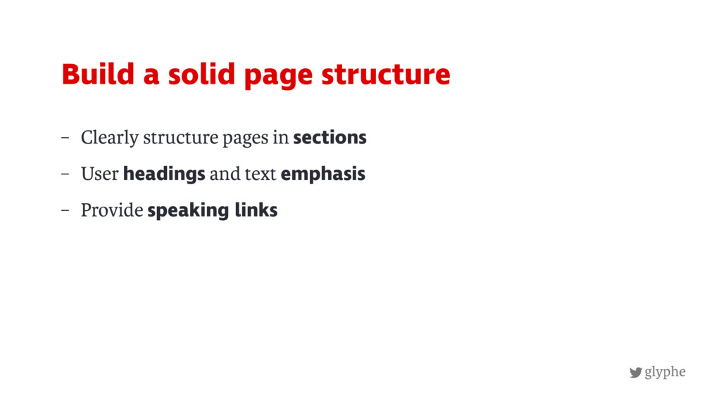 glyphe – Clearly structure pages in sections – ...