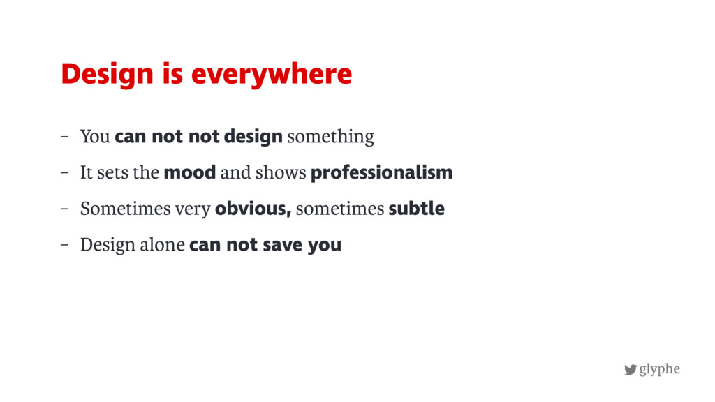 glyphe – You can not not design something – It ...