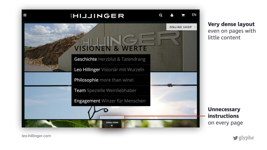 glyphe leo-hillinger.com Unnecessary instructio...