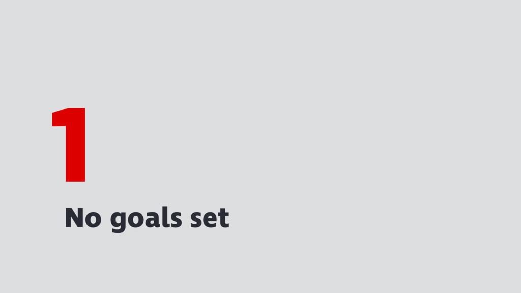 No goals set 1