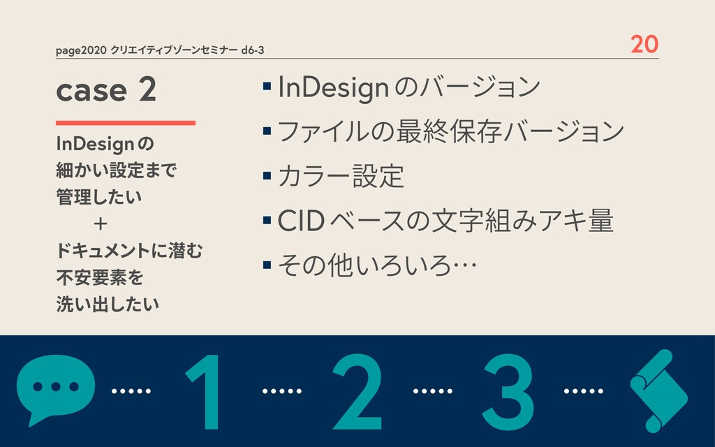 page2020 クリエイティブゾーンセミナー d6-3 20 case 2 InDesign...