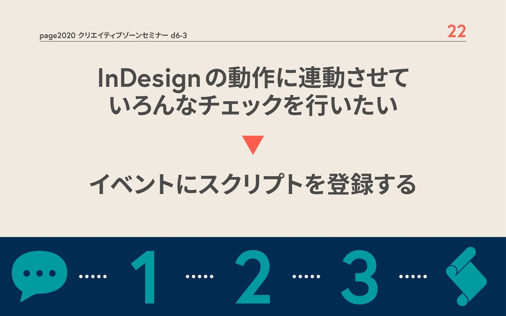 page2020 クリエイティブゾーンセミナー d6-3 22 InDesignの動作に連動さ...