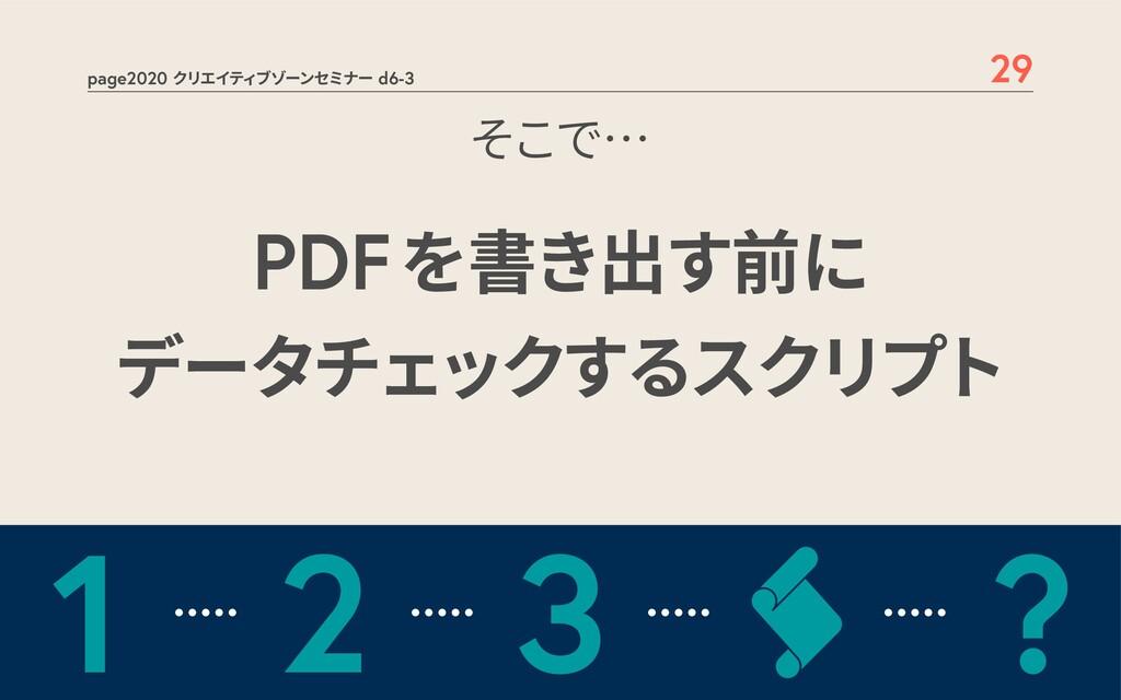 page2020 クリエイティブゾーンセミナー d6-3 29 PDFを書き出す前に データチ...