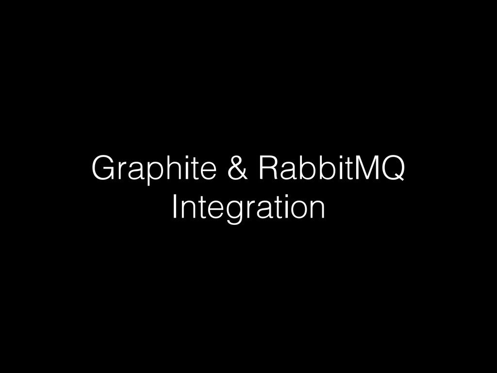 Graphite & RabbitMQ Integration