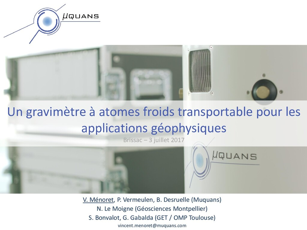 Un gravimètre à atomes froids transportable pou...