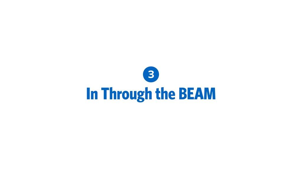 3 In Through the BEAM