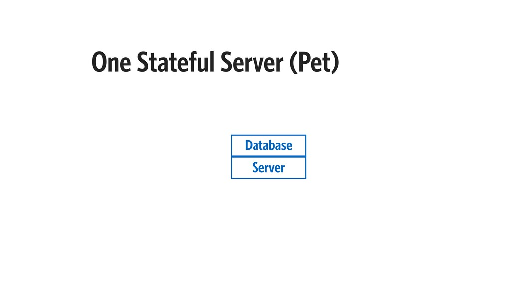 One Stateful Server (Pet) Server Database