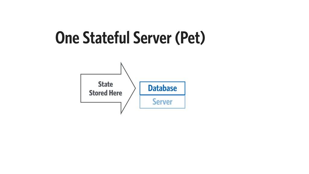 One Stateful Server (Pet) Server State Stored H...