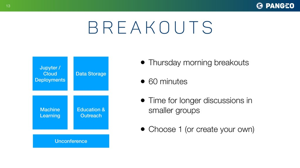B r e a k o u t s • Thursday morning breakouts ...