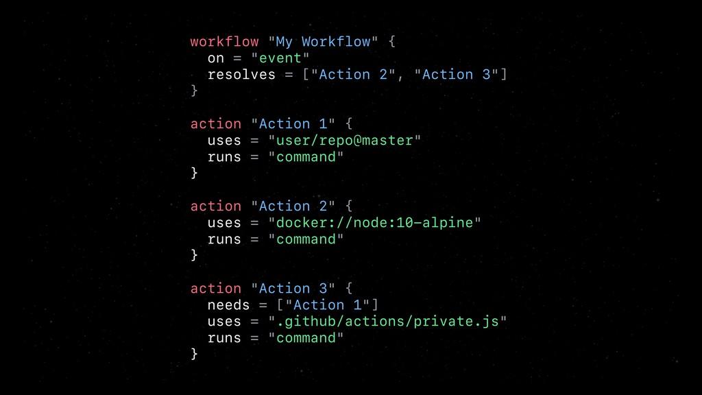 "workflow ""My Workflow"" { on = ""event"" resolves ..."