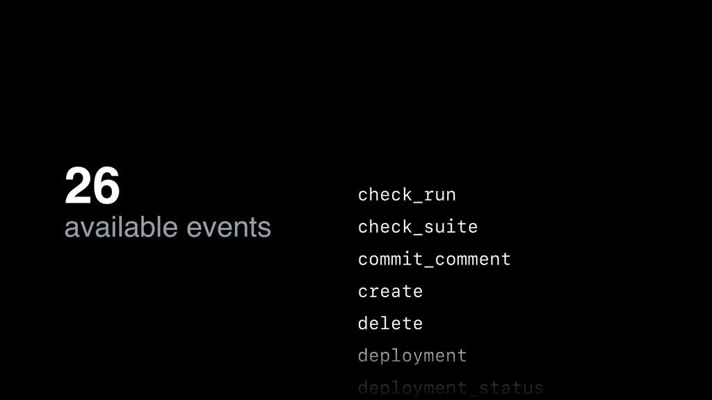 check_run check_suite commit_comment create del...