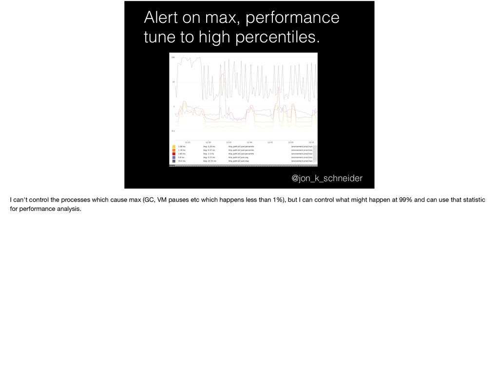 Alert on max, performance tune to high percenti...